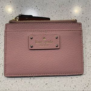 Kate Spade Small Zip Card Holder in Pink